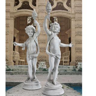 Lighting The Heavens Grande Cherub Sentinel Statue by Design Toscano