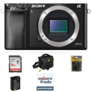 Sony Alpha a6000 Mirrorless Digital Camera Body Deluxe Kit
