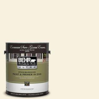 BEHR Premium Plus Ultra 1 gal. #340E 1 Parmesan Semi Gloss Enamel Exterior Paint 585001