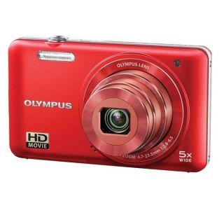 Olympus VG 160 14MP Red Digital Camera with Bonus Accessory Kit