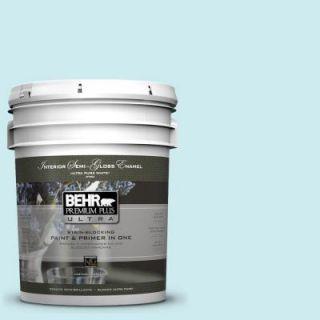 BEHR Premium Plus Ultra 5 gal. #510A 2 Salty Tear Semi Gloss Enamel Interior Paint 375005