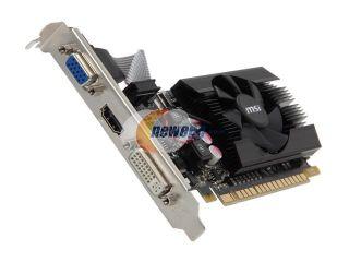 Open Box: MSI GeForce GT 610 DirectX 11 N610GT MD2GD3/LP 2GB 64 Bit DDR3 PCI Express 2.0 x16 HDCP Ready Low Profile Ready Video Card
