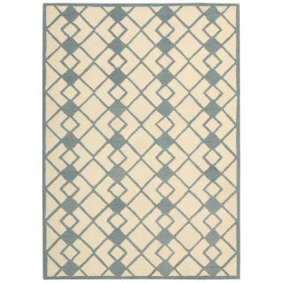 Nourison Decor Ivory Blue Rug (8 x 10)   17488253