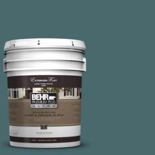 BEHR Premium Plus Ultra 5 gal. #510F 6 Solitude Flat Exterior Paint 485305