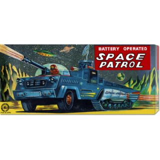 Retrobot Space Patrol Stretched Canvas Art   Shopping