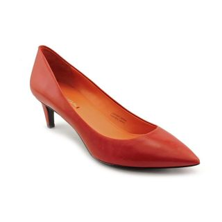 Via Spiga Womens Red Angie Leather Pointed Toe Dress Shoes
