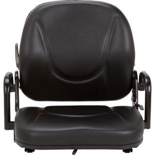 K & M Daewoo Forklift Seat — Black, Model# 8054  Forklift   Material Handling Seats
