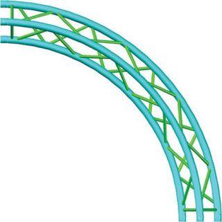 Global Truss 13.12 (4m) Circle, 4 x 90 Degree Arcs, Triangular Truss TR C4 90