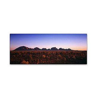Trademark David Evans Kata Tjuta Sunrise Gallery Wrapped Canvas Art, 16 x 47