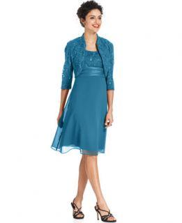 Richards Sleeveless Sequin Lace Dress and Jacket   Dresses   Women