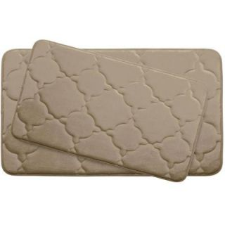 BounceComfort Dorothy Linen 20 in. x 32 in. Memory Foam 2 Piece Bath Mat Set YMB003703