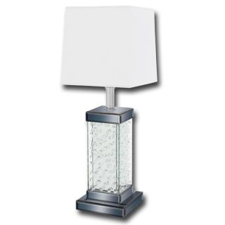 Casa Cortes Contemporary Loft 30 inch Glass and Crystal Table Lamp