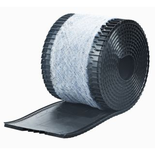 Attic Aire 13.8 in x 240 in Black Plastic Roll Roof Ridge Vent