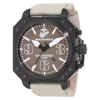 Mens Wrist Armor U.S. Marine Corps C4 Swiss Quartz Watch   Brown