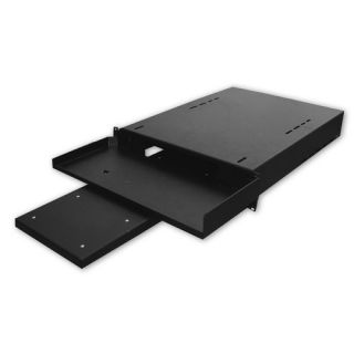 24D Hide Away Keyboard Shelf with Pull Out Mouse Tray   1 RU by Quest