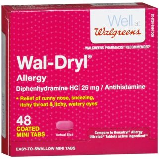 Walgreens Wal Dryl Allergy Relief, Coated Mini Tabs