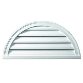 Fypon 60 in. x 30 in. x 2 in. Polyurethane Functional Half Round Louver Gable Vent FHRLV60X30