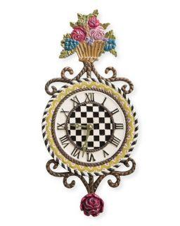 MacKenzie Childs Flower Basket Clock