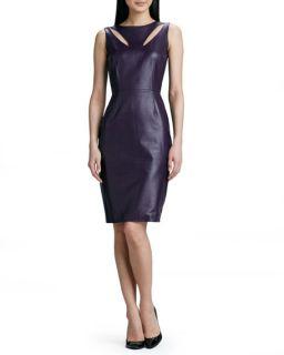 Raoul Teardrop Cutout Leather Dress
