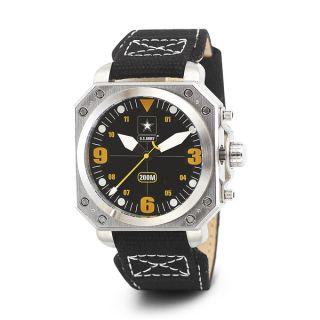 Wrist Armor Mens WA255 U.S. Army C4 Black Dial Yellow Accent Watch