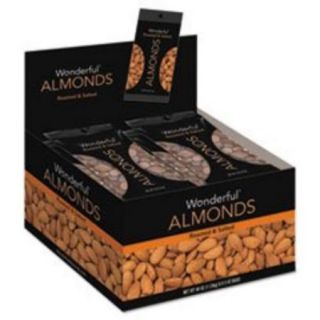 Nuts 042322F2OA Wonderful Almonds, Dry Roasted & Salted, 5 Oz, 8/box
