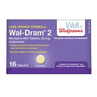 Wal Dram II Antiemetic Travel Sickness Tablets