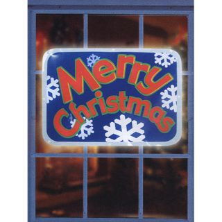 16 Battery Operated Lighted Merry Christmas Light Show Sign Christmas