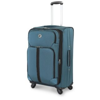 Global Traveler Spinner Luggage Shannon Falls Collection   Teal (24