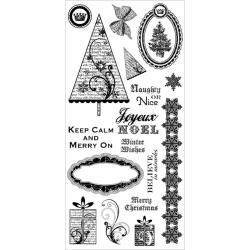 Stampers Anonymous Darcies Joyeux Noel Clear Stamp Set