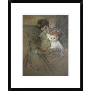 Global Gallery Sketch For Mother and Daughter Looking at The Baby 1905