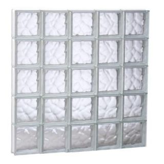 Clearly Secure 38.75 in. x 38.75 in. x 3.125 in. Non Vented Wave Pattern Glass Block Window 4040SDC