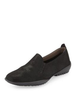 Sesto Meucci Angy Suede Slip On Loafer, Black