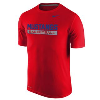 SMU Mustangs Nike Basketball Legend Practice Performance T Shirt   Red