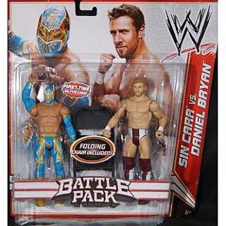 WWE Sin Cara & Daniel Bryan   WWE Battle Packs 15 Toy Wrestling Action