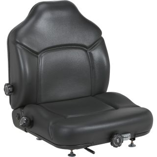 Michigan Seat Skid Steer and Forklift Seat with Variable Suspension — Black, Model# V-5200  Suspension Seats