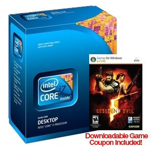 Intel Core i7 950 Retail Processor w/ Fan & FREE Resident Evil Game