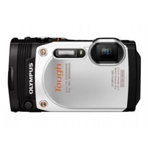 Olympus Stylus Tough TG 860   Digital camera   High Definition   compact   16.0 MP   5 x optical zoom   Wi Fi   underwater up to 45 ft   white (V104170WU000)