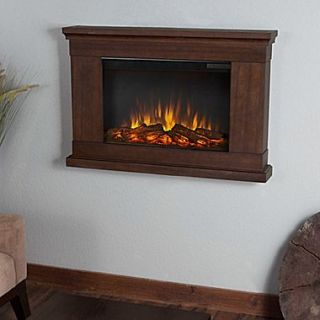 Real Flame Slim Jackson Wall Mounted Electric Fireplace; Vintage Black Maple