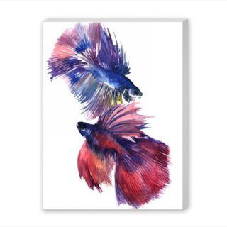 Americanflat Beta Fish 2 by Suren Nesisyan Painting Print on Wrapped
