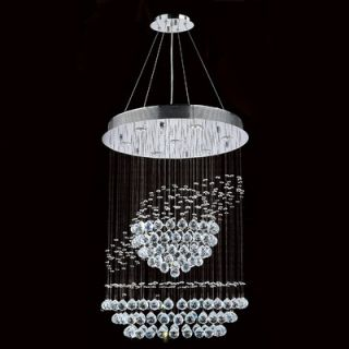 Saturn 7 Light Crystal Chandelier by Worldwide Lighting