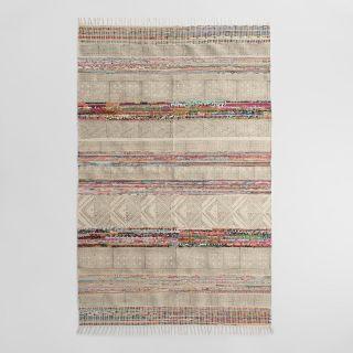 5x8 Block Print Jute Maya Area Rug