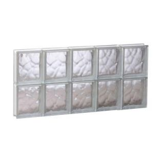 Clearly Secure 28.75 in. x 15.5 in. x 3.125 in. Non Vented Wave Pattern Glass Block Window 3016SDC