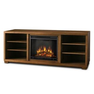 Real Flame Marco 70 in. Media Console Electric Fireplace in Walnut 5757E WN