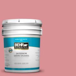 BEHR Premium Plus Home Decorators Collection 5 gal. #HDC CT 11 La Vie En Rose Zero VOC Satin Enamel Interior Paint 740005