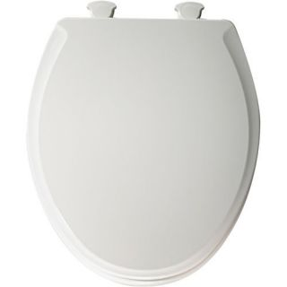 Church 7F640E2 Round Closed Front Soft Close Molded Wood Toilet Seat with Cover