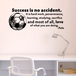 Belvedere Designs LLC Success is No Accident Soccer Ball Wall Decal