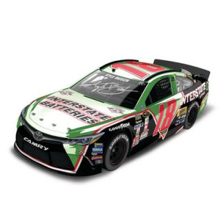 Kyle Busch Action Racing 2016 Darlington #18 Interstate Batteries 1:24 NASCAR Sprint Cup Series Autographed Color Chrome Die Cast Toyota Camry