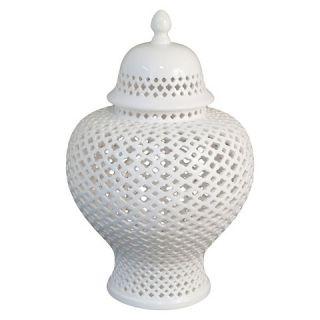 Three Hands Pierced Temple Jar (19.5)
