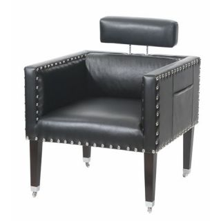 Gails Accents 92 008CHR Winmark Square Modern Vinyl Chair in Black