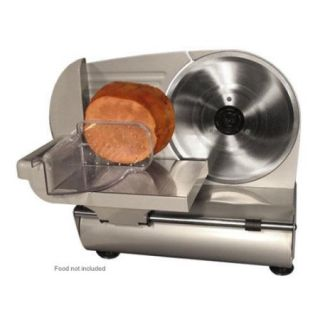 "Weston 61 0901 W 9"" Meat Slicer   8.63"" Rotary Stainless Steel Blade, Removable Blade, Suction Cup Feet, Food Pusher, Ad"